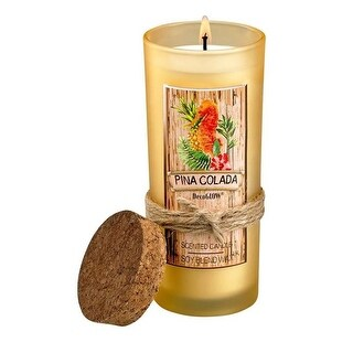 Pina Colada Highball Scented Candle, Glass & Soy Blended Wax