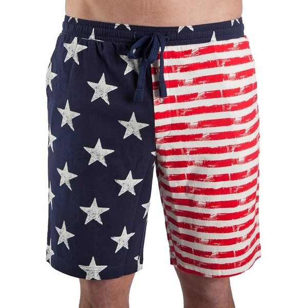 878346c5e43cb Shop Bioworld USA Distressed American Flag Men's Lounge Pajama Shorts - On  Sale - Free Shipping On Orders Over $45 - Overstock - 21425888