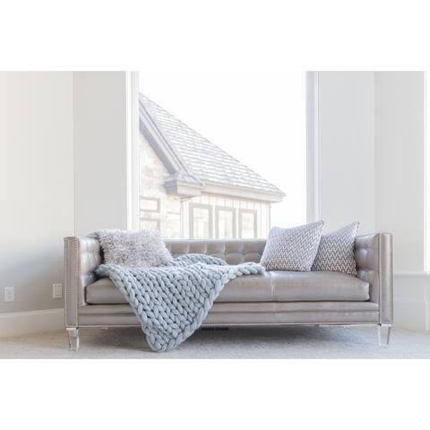 The Gray Barn Buffalo Pass Chunky Knit 100% Merino Wool Blanket