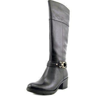 Bandolino Ulla Women Round Toe Leather Black Knee High Boot