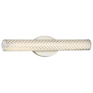Kovacs P1262-084-L LED Light Bath Bar from the Dots Collection - Brushed Nickel