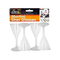 Plastic Martini Shot Glasses - Pack of 18