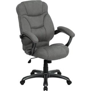 Aberdeen High-Back Gray Microfiber Executive Swivel Chair w/Arms