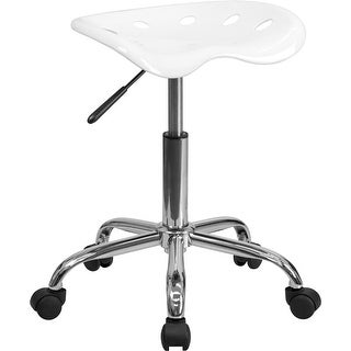 Brittany White Tractor Seat & Chrome Multipurpose Stool