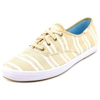 Keds CH Wash Strip Women Round Toe Canvas Tennis Shoe