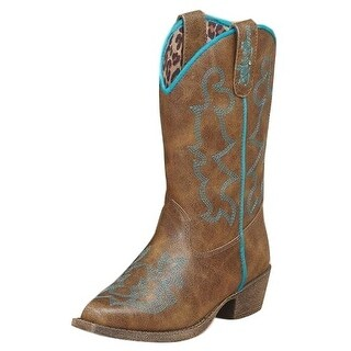 Blazin Roxx Western Boots Girls Kids Caroline Snip Youth Brown