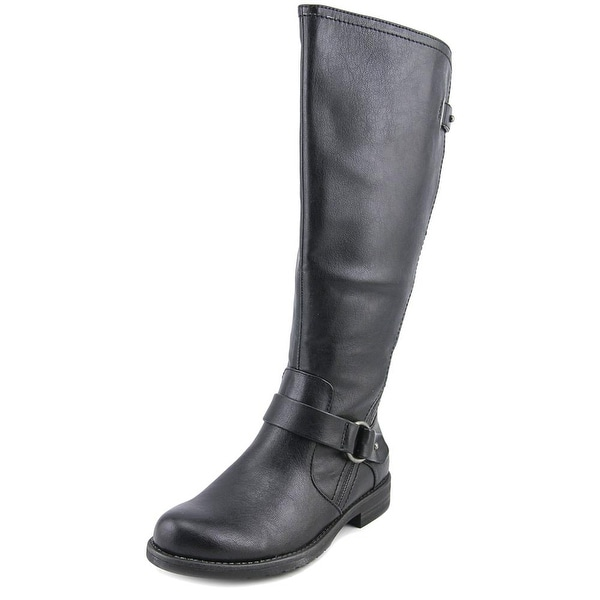 Baretraps Clare 2 Wide Calf Women Round Toe Synthetic Black Knee High Boot