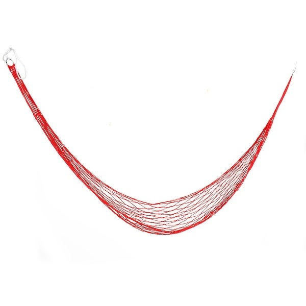 Outdoor Camping Nylon Nest Swing Sleeping Bed Portable Hanging Hammock Red