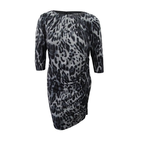 e2339a284d9 Shop Tahari ASL Women s Plus Size Animal Print Dress (16W