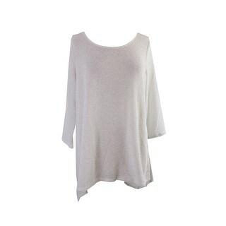 Alfani Light Grey Metallic Sweater M