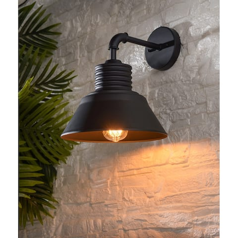 Allister Medium Outdoor Wall Lantern with Straight Arm - 11x13