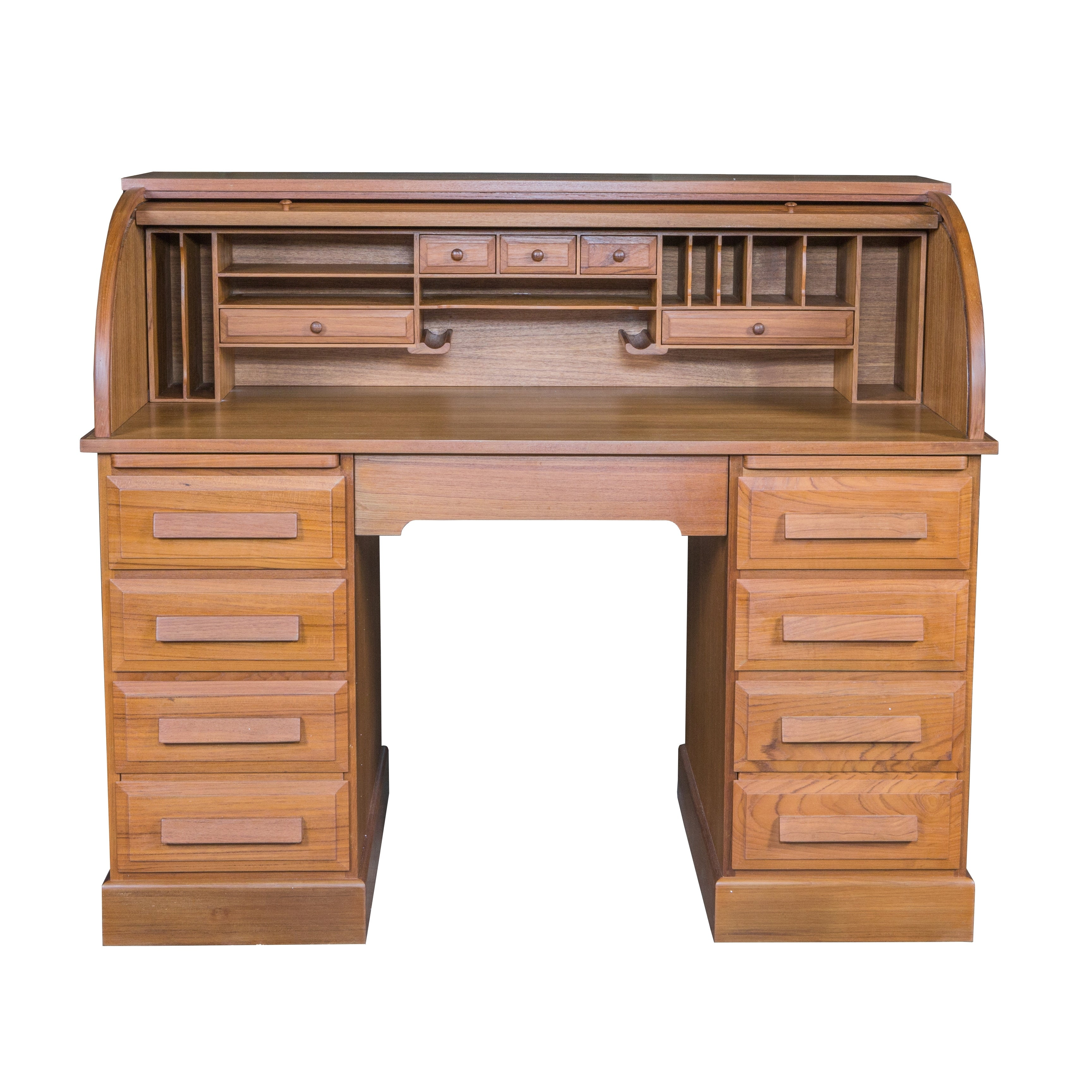 Teak Roll Top Desk