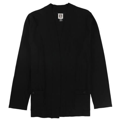 Anne Klein Womens Solid Cardigan Sweater