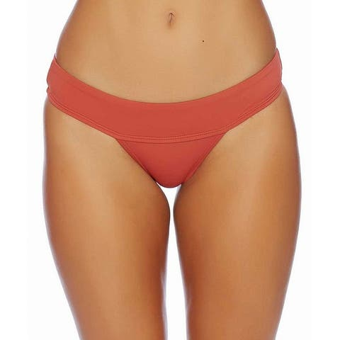 Reef Orange Women's Size Medium M Bikini Bottom Solid Cheeky Swimwear