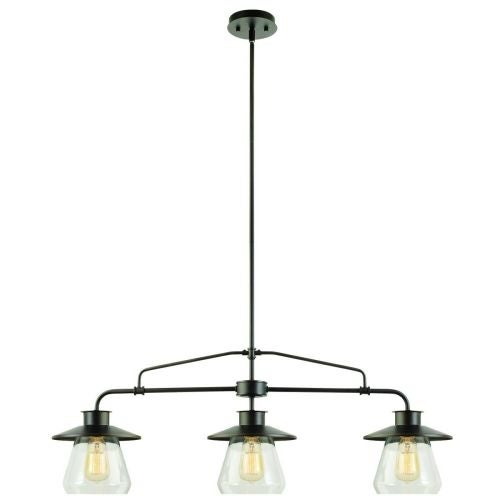 Globe Electric 64845 Vintage 3 Light Linear Chandelier