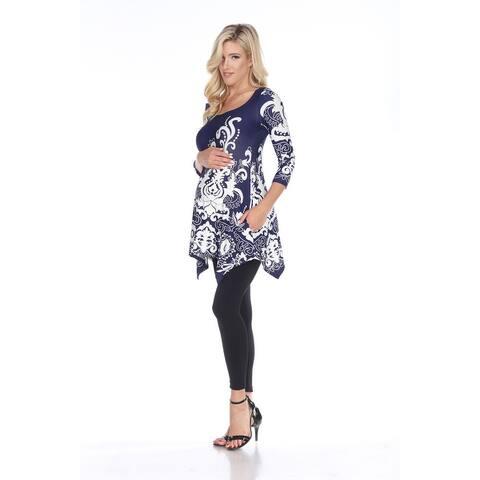 White Mark Women's Maternity 'Ganette' Tunic.
