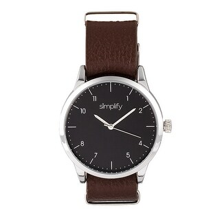 Simplify The 5600 Unisex Quartz Watch, Genuine Leather Band, Luminous Hands