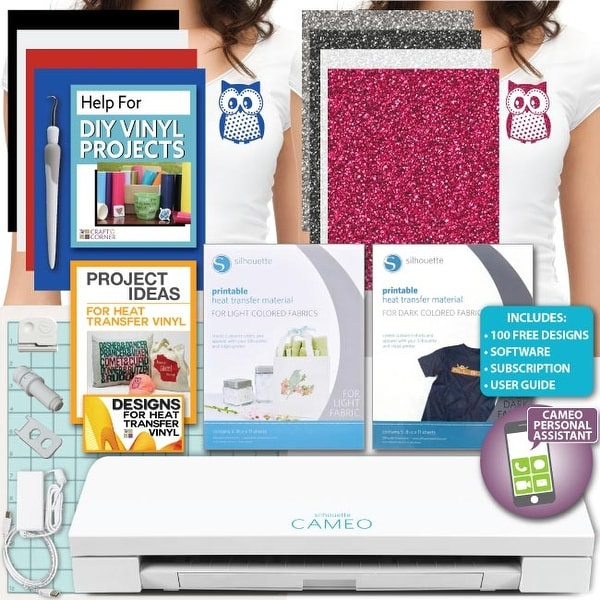 photo about Printable Heat Transfer Vinyl Silhouette named Retailer Silhouette Cameo 3 System Offer Adhesive Vinyl
