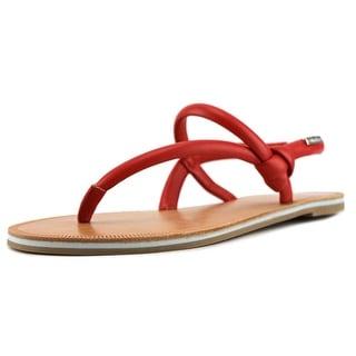 Calvin Klein Alisha Open Toe Leather Thong Sandal