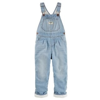OshKosh B'gosh Little Girls' Fleece-Lined Overalls - Feather Cream Wash, 4T