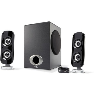 Cyber Acoustics Ca-3810 2.1 Channel Powered Speaker System With Control Pod