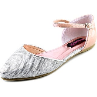 Kensie Girl Ankle Strap Flat Youth Pointed Toe Synthetic Flats