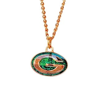 Cleanlapsports Green Bay Packers Glitter Necklace