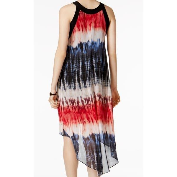 Shop SLNY Black Flag Tie Dye Women's Size Large L Chiffon