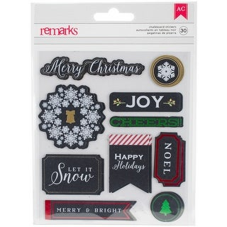 American Crafts Christmas Stickers-Word Labels