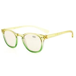 Eyekepper Blue Light Blocking Digital Eye Strain Prevention Womens Computer Reading Glasses(Yellow-Green Frame, +1.50)