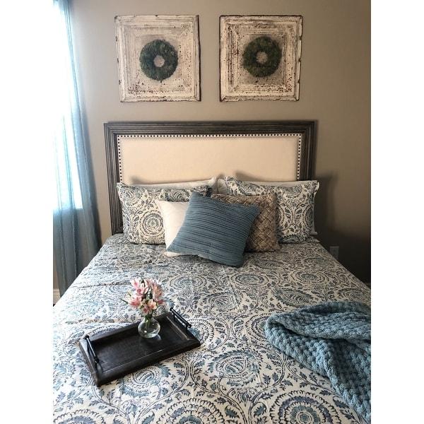 Shop Echo Design Kamala Blue Cotton Duvet Cover Set Free Shipping