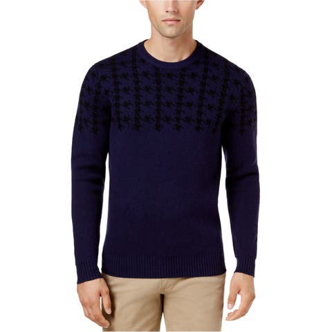 Ben Sherman Mens Houndstooth Knit Sweater