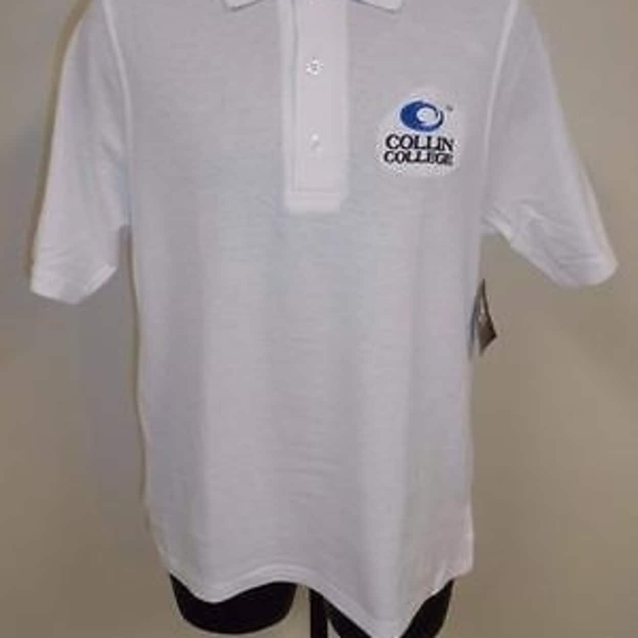 NEW COLLIN COLLEGE COUGARS ADULT MENS M MEDIUM POLO SHIRT 75DM