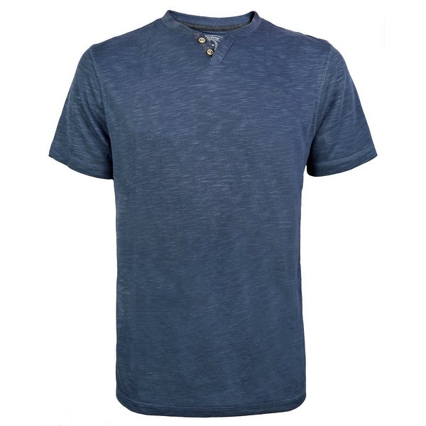 Victory Outfitters Men's Modal Blend Short Sleeve Contrast Trim V-Neck Henley. Opens flyout.