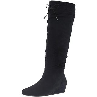 Unlisted Kenneth Cole Womens Ball Of Fire Knee-High Boots Microfiber Slouchy - 6 medium (b,m)