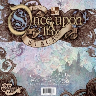 "DCWV Paper Stack 12""X12"" 48/Pkg-Once Upon A Time, 24 Designs/2 Each"