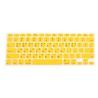 Korean Silicone Keyboard Skin Cover Yellow for Apple Macbook Air 13 15 17