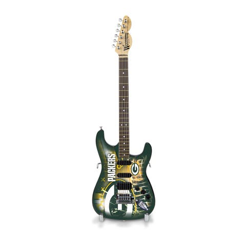 Green Bay Packers Miniature Guitar - Multi