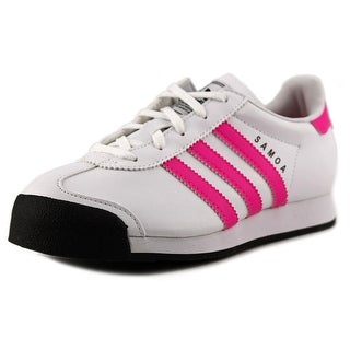 Adidas Samoa C Round Toe Leather Sneakers