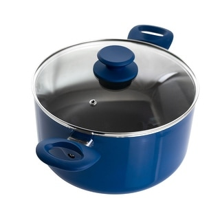 Link to Gibson Home Charmont 6 Quart Nonstick Aluminum Dutch Oven with Lid in Yale Blue Similar Items in Cookware
