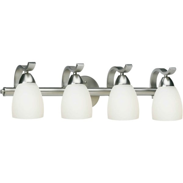 "Forte Lighting 5045-04 4 Light 26"" Wide Bathroom Fixture from the Bath Collection - Brushed nickel"
