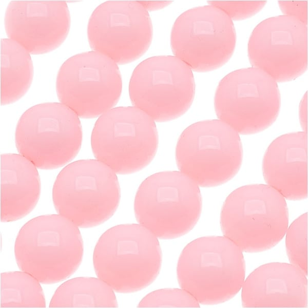 Czech Glass Round Party Beads 6mm - Champagne Pink (1 Strand / 29 Beads)