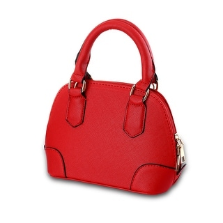 Classic Red Faux Leather Tote Bag