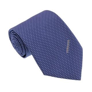 Versace Blue Woven Honeycomb Tie