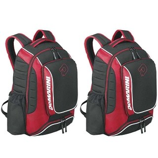 DeMarini Momentum Baseball Backpack, 2 Pack (Scarlet Red)