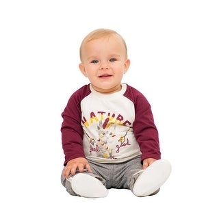 Pulla Bulla Baby Boy Long Sleeve Graphic Raglan Shirt
