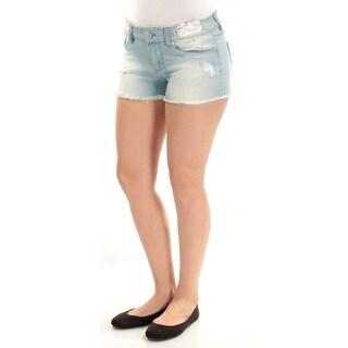 Womens Light Blue Casual Skinny Short Size 5