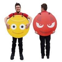 27.5 x 27.5 in. Angel & Devil Emoji Costume Cardboard Standup