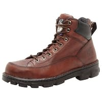 Georgia Boot Work Mens Eagle Light Load ST Soggy Dark Brown