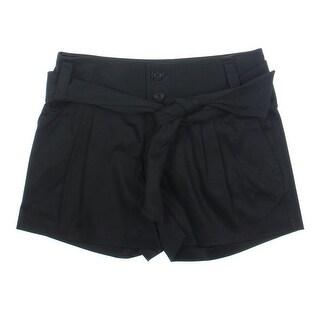 Catherine Malandrino Womens Twill Double Pleat Casual Shorts - 10